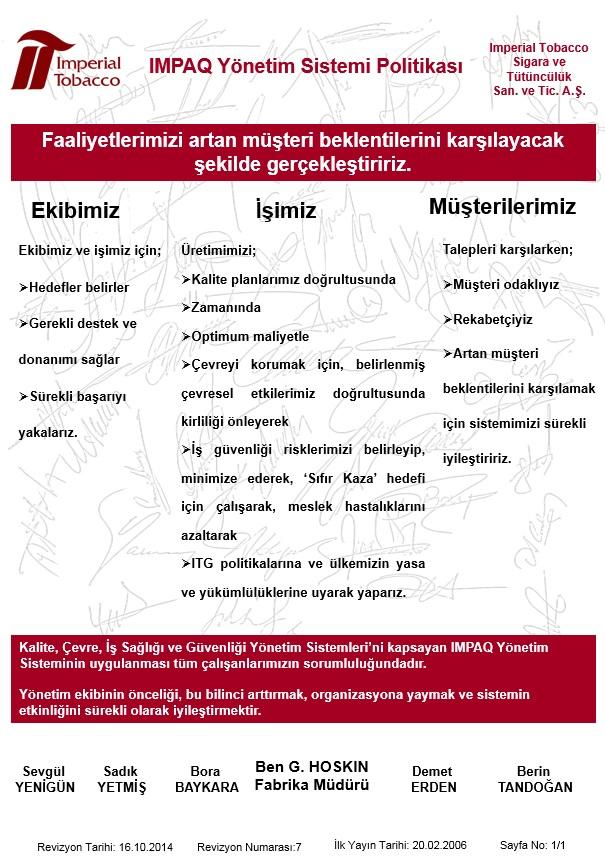 Imperial Tobacco Türkiye 550dda63e8e